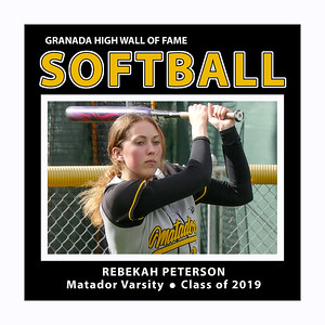Peterson Rebekah GHS Softball 2019 Sr