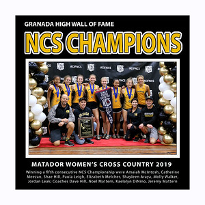 Cross Country GHS NCS Champs Girls 2019