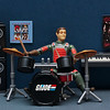 Flash on the drum kit
