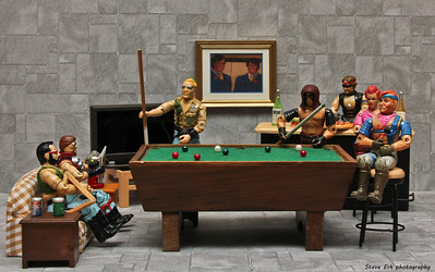 The Dreadnoks shooting pool