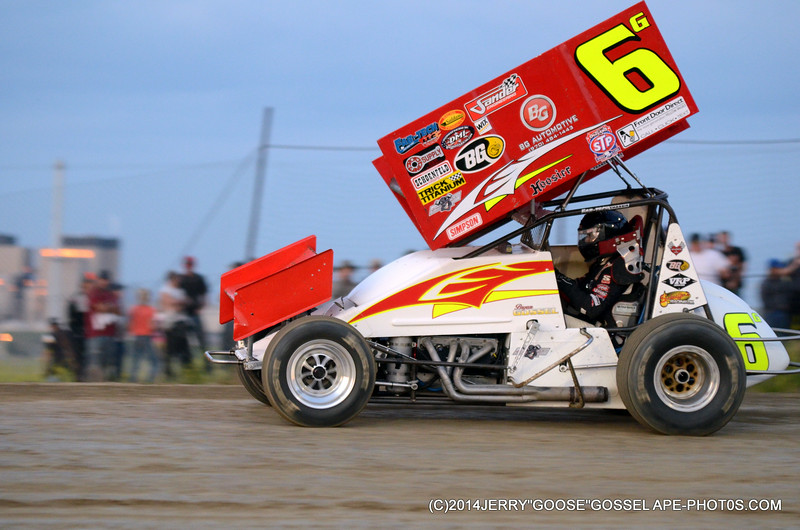 FROM THE BACK TO WIN THE HEAT OFF TURN 4 6 G BRYAN GOSSL