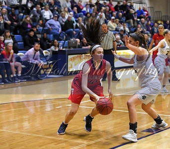 PW#32 Anna McTamney drive the basket pass SF#25 Abby Goodrich