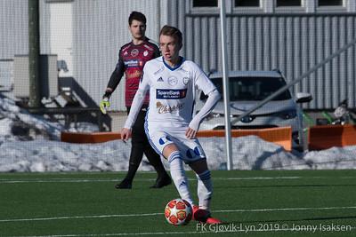 FK Gjøvik-Lyn   -   Løten FK      23/03/2019   --- Foto: Jonny Isaksen