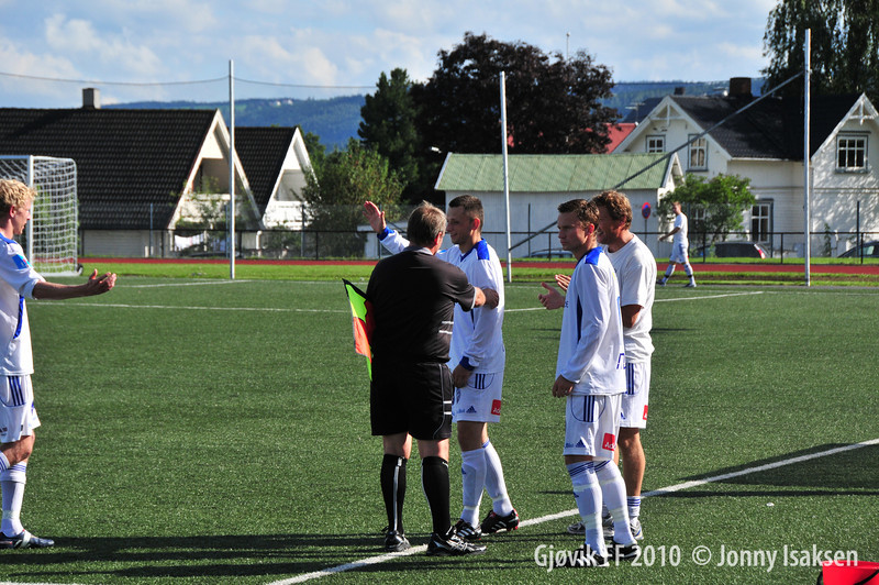Gjøvik FF - Stange 14/08/2010     Foto: Jonny Isaksen