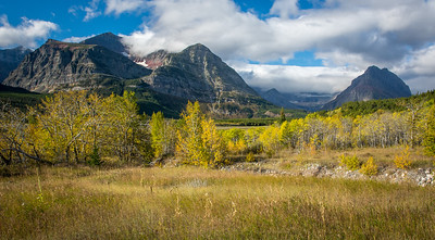 Glacier National Park on a scenic fall day