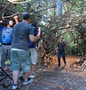 Shooting a portion of the chase scene.