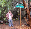 An actor waits for his cue to shoot his scene on our trails.