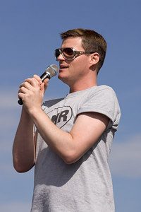 Derek Hartley from Sirius OutQ's Derek & Romain radio show