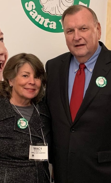 The fabulous team of the Lowell Sun Charities, coordinator Nancy Roberts of Westminster and president Terry McCarthy of Lowell