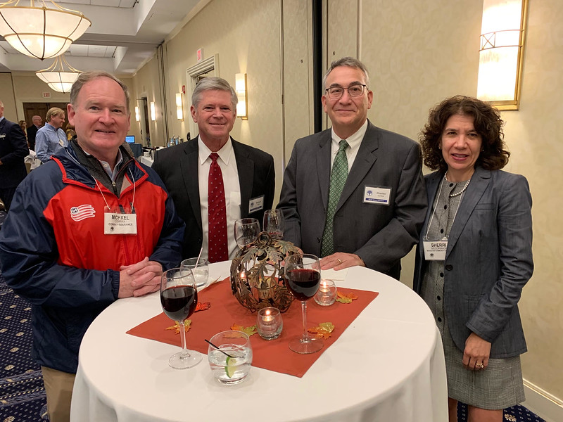 From left, Michael Conway of Lowell, Michael King of Chelmsford, and Charles Comtois and Sherri McCormick, both of Tyngsboro