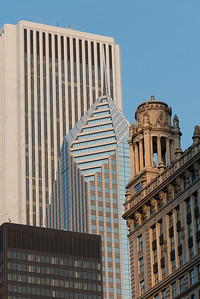 Two Prudential Plaza, Aon Center, IBM Plaza and  35 East Wacker, also known as the Jewelers' Building