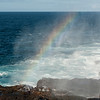 rainbow at blow hole - Espanola Island
