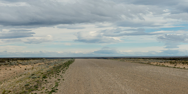Road passing through landscape, Santa Cruz Province, Patagonia, Argentina