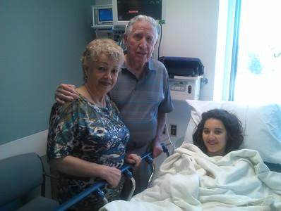 GLORIA'S KNEE SURGERY HOSPITAL DISCHARGE • 08.15.13