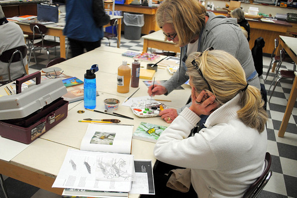 WATERCOLOR PAINTING WORKSHOP with Betsy Hubner of Burr and Burton Academy