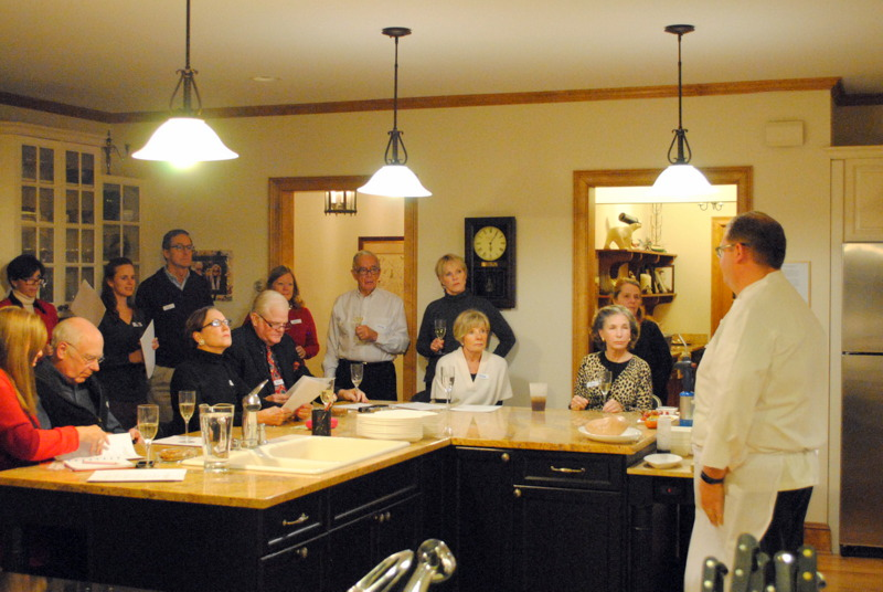Chef Justin Dain of PINE Restaurant at the Hanover Inn at Dartmouth... a very special holiday cooking class.