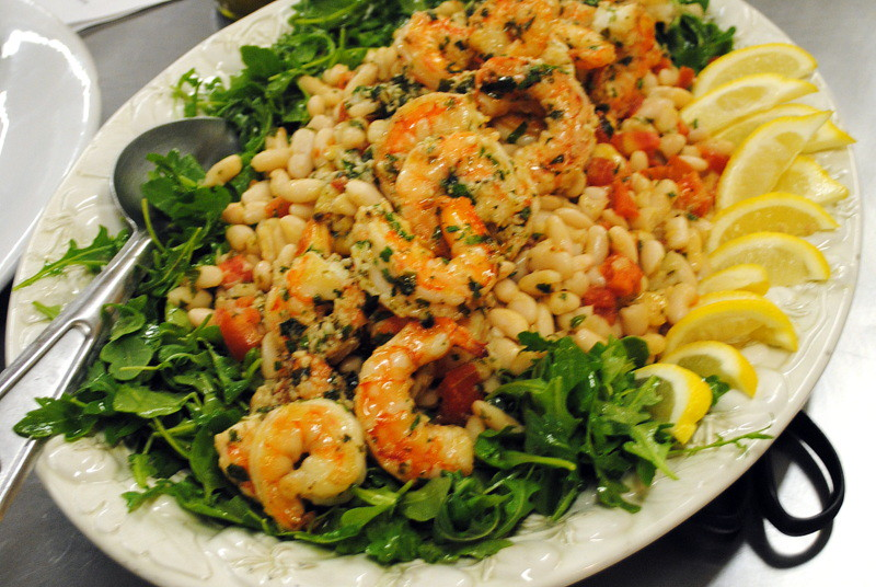 Shrimp, white beans and arugula salad... Al Ducci's