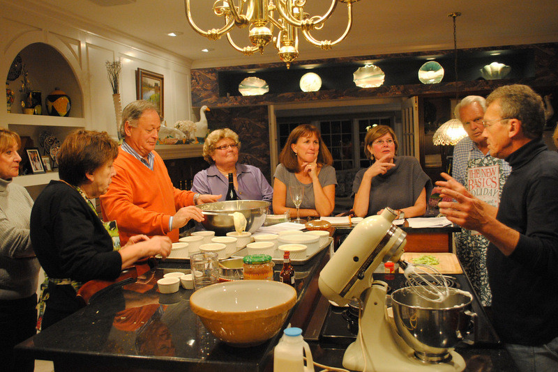 Josef Roettig instructs the class on making souffles.