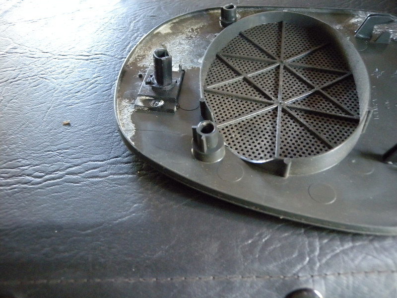 Rear view of factory speaker grill