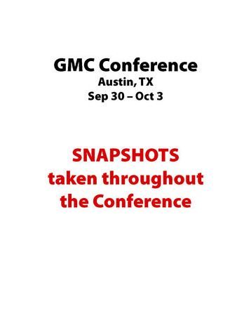 Snapshots Throughout Conference