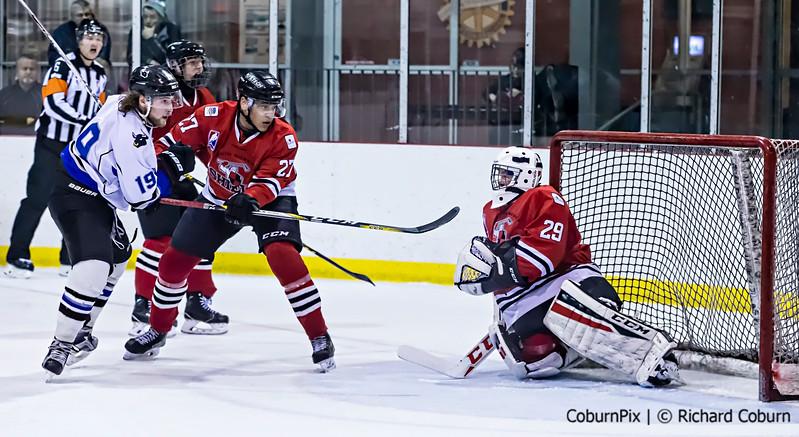 #29 Lucas LaHay battles the Bulls
