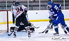 #24 Sasha Black - pressure on goaltender DN