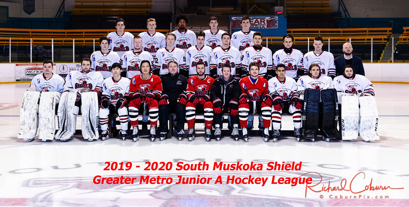 2019 - 2020 South Muskoka Shield Team Photo labelled 2