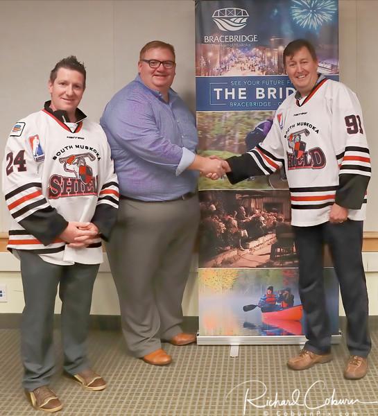 Welcome to the Bridge - Frank Demasi Head Coach - Bracebridge Mayor Graydon Smith - Owner David Ryan