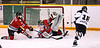 #31 Koby Lukehart attempts to stop goal