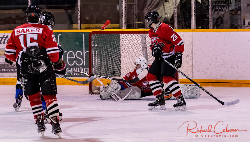 #29 Brian Lacharite to fast a Powershot in the Shield goal