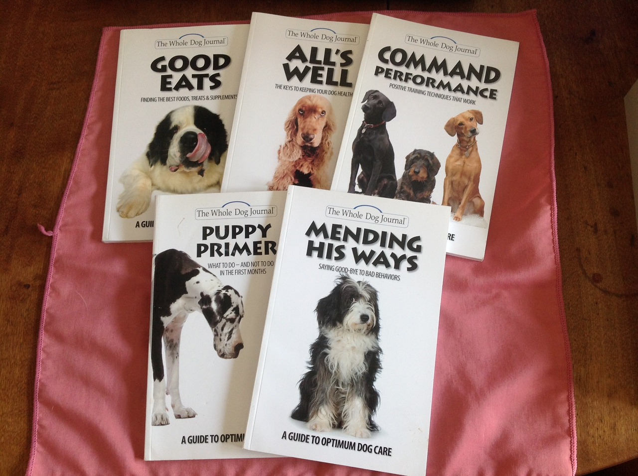 Collection of 5 Whole Dog Journal books<br /> <br /> Winner pays shipping<br /> <br /> Starting bid $5