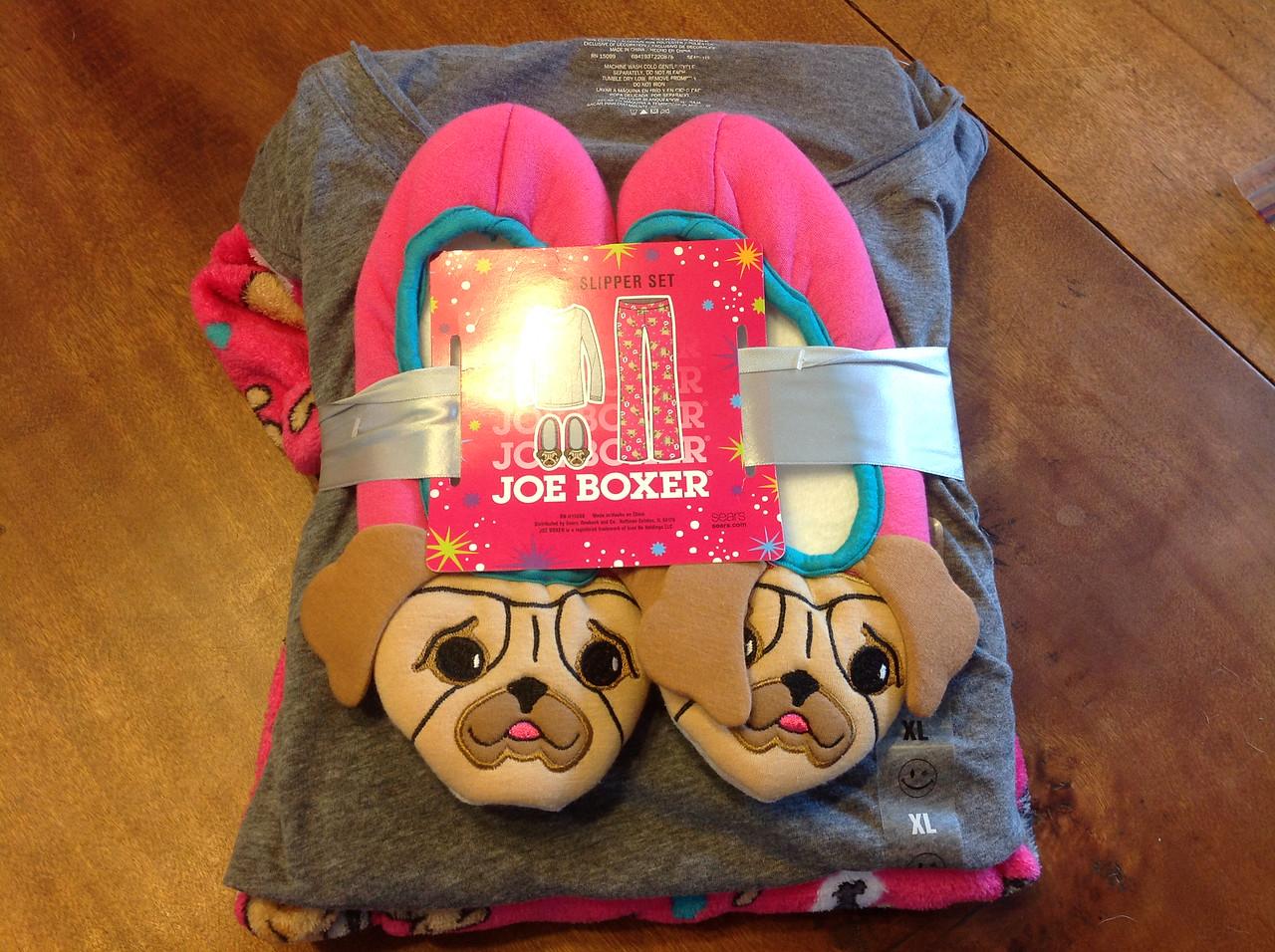3 piece pajama and slipper set - size XL. Super soft!<br /> <br /> Winner pays shipping<br /> <br /> Starting bid $10