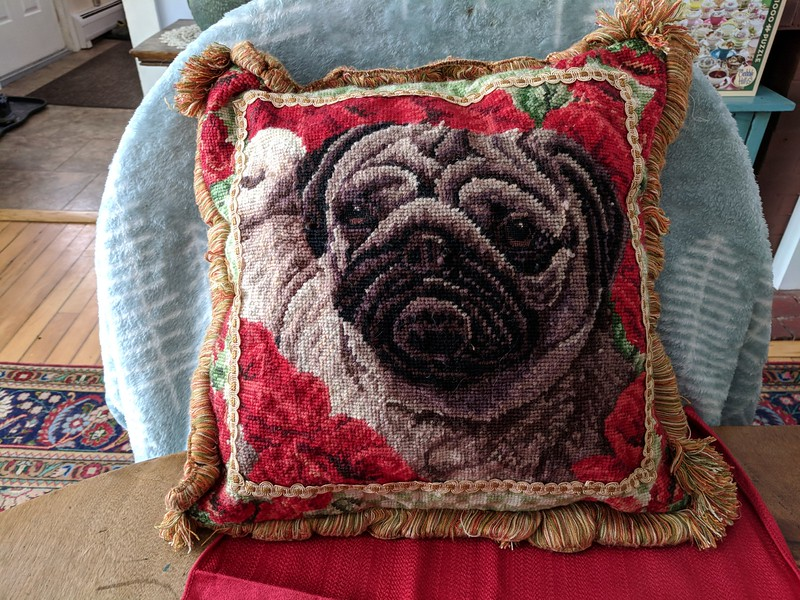 Pug Tapestry Pillow