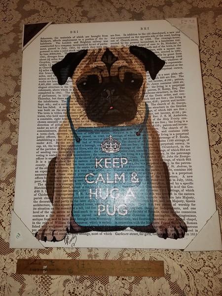 Keep Calm & Hug a Pug Print