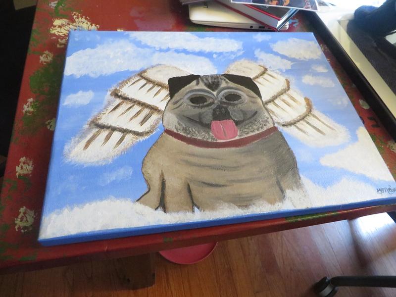 Pug Dog Painting - 18 x 14