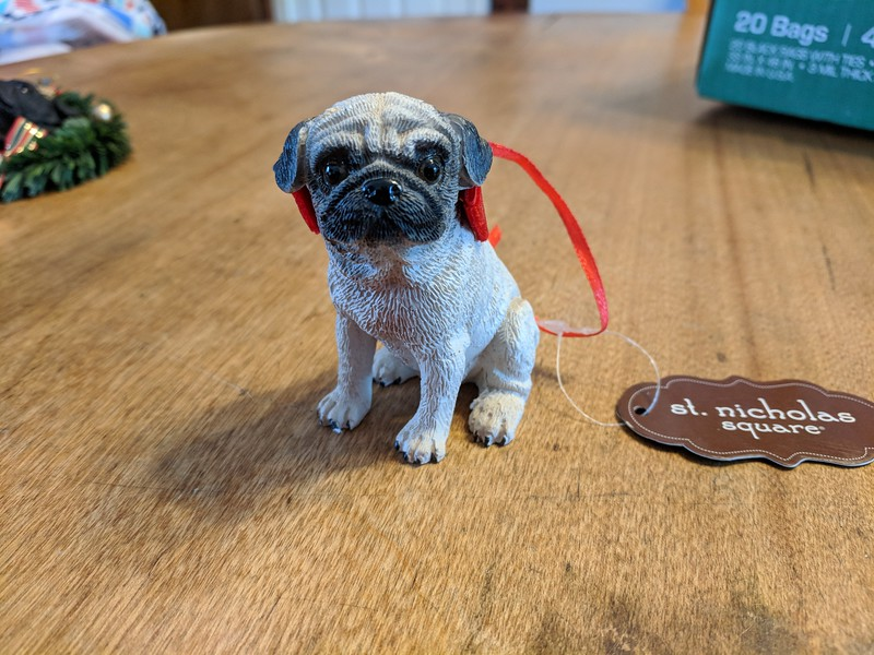 Pug Christmas Ornament -St. Nicholas Square
