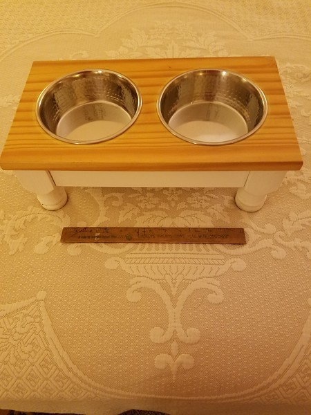 Wooden Feeding Tray with Bowls