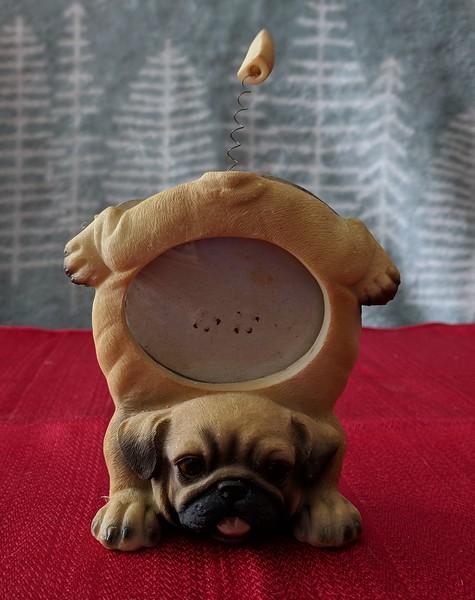 Pug Handstand Photo Frame
