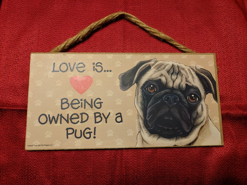 Owned by a Pug Plaque