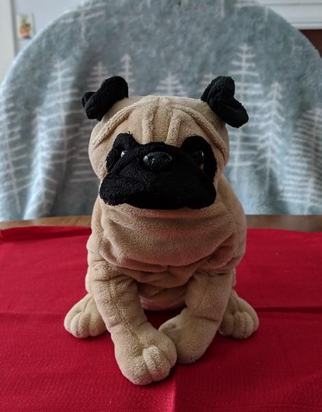 Ganz Seated Plush Pug