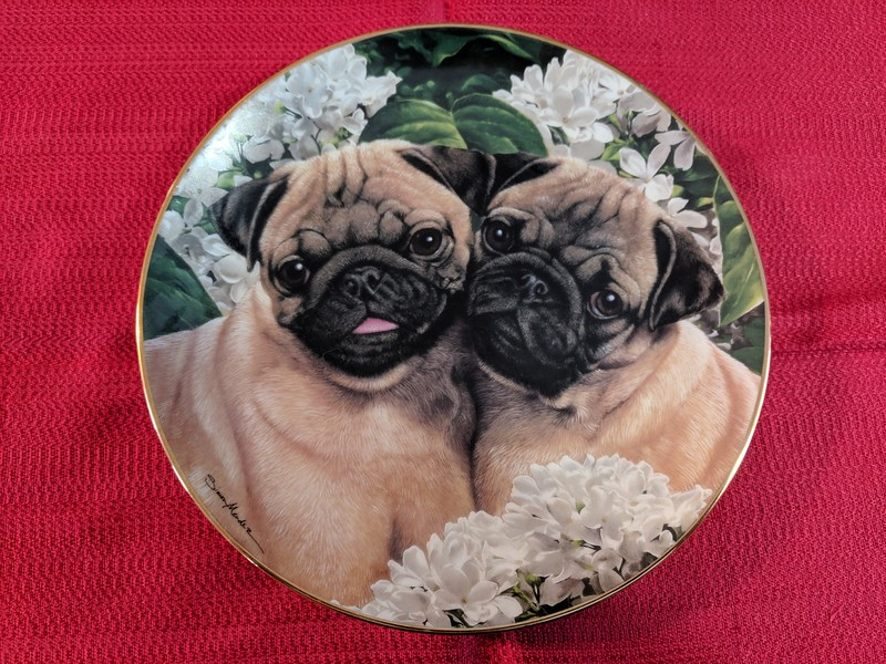 Sales Tent - Danbury Mint Pug Love