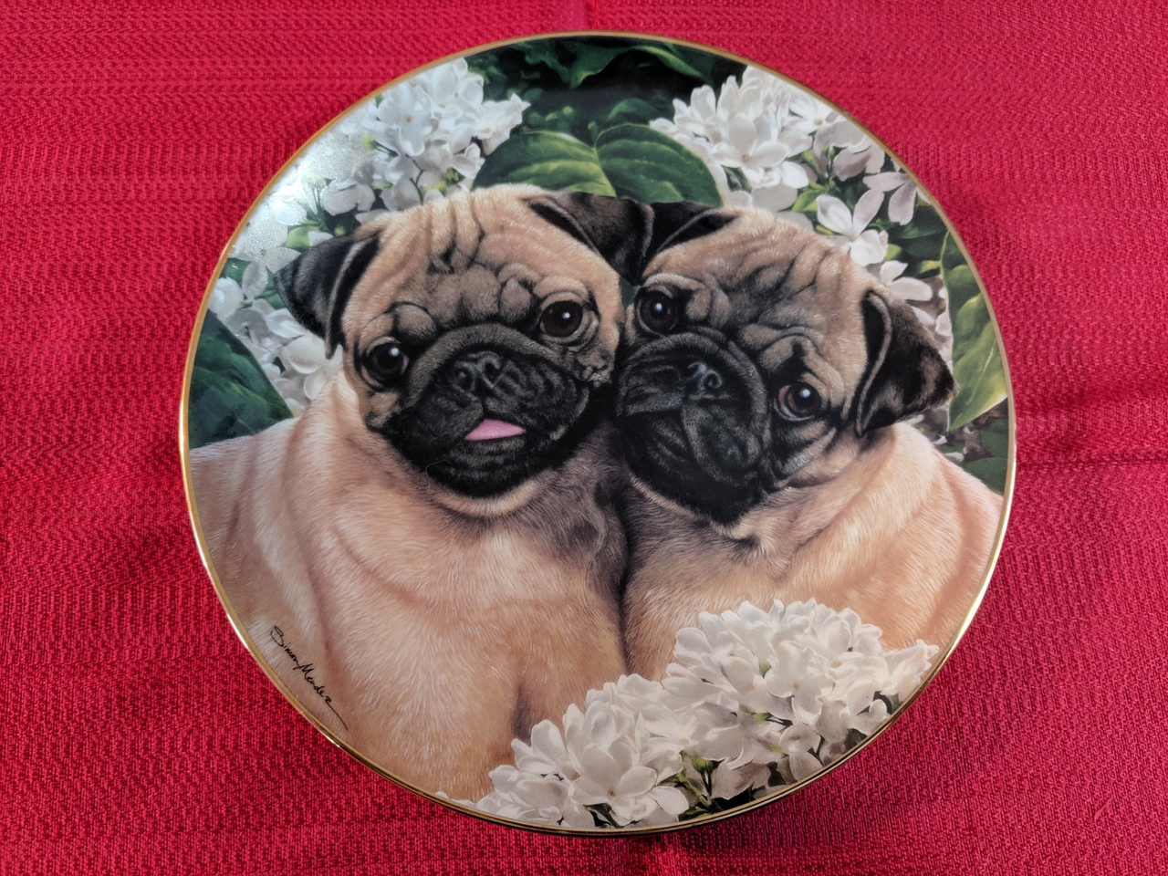 Danbury Mint Pug Love