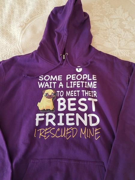 Purple Hoodie - Best Friend - Size Large