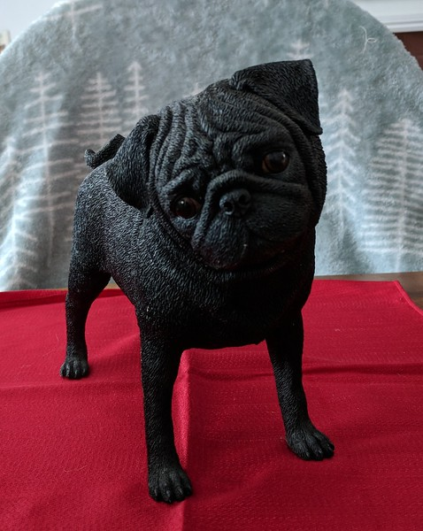 Danbury Mint Playful Pug - Black