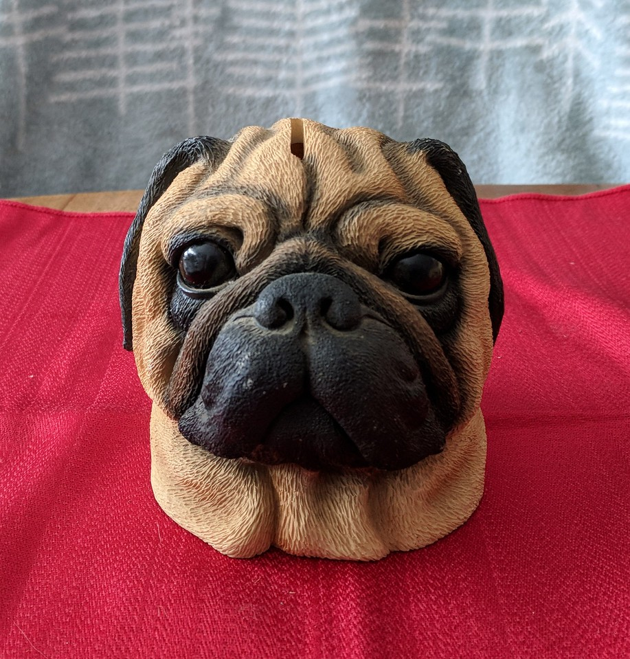 Danbury Mint Pug Head Bank