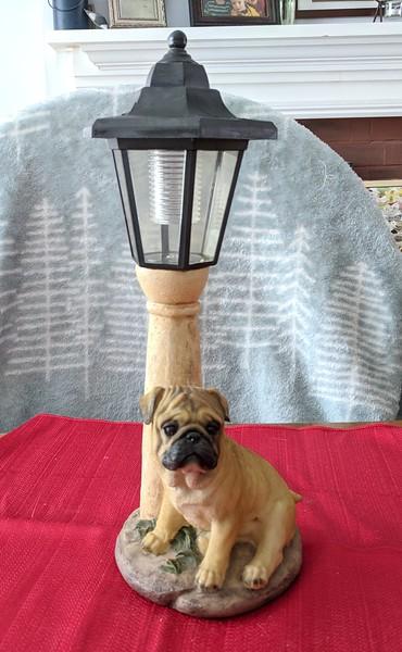 Pug Solar Lamp