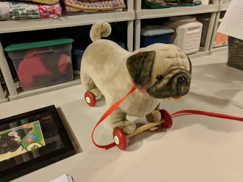 Vintage Pug Pull Toy