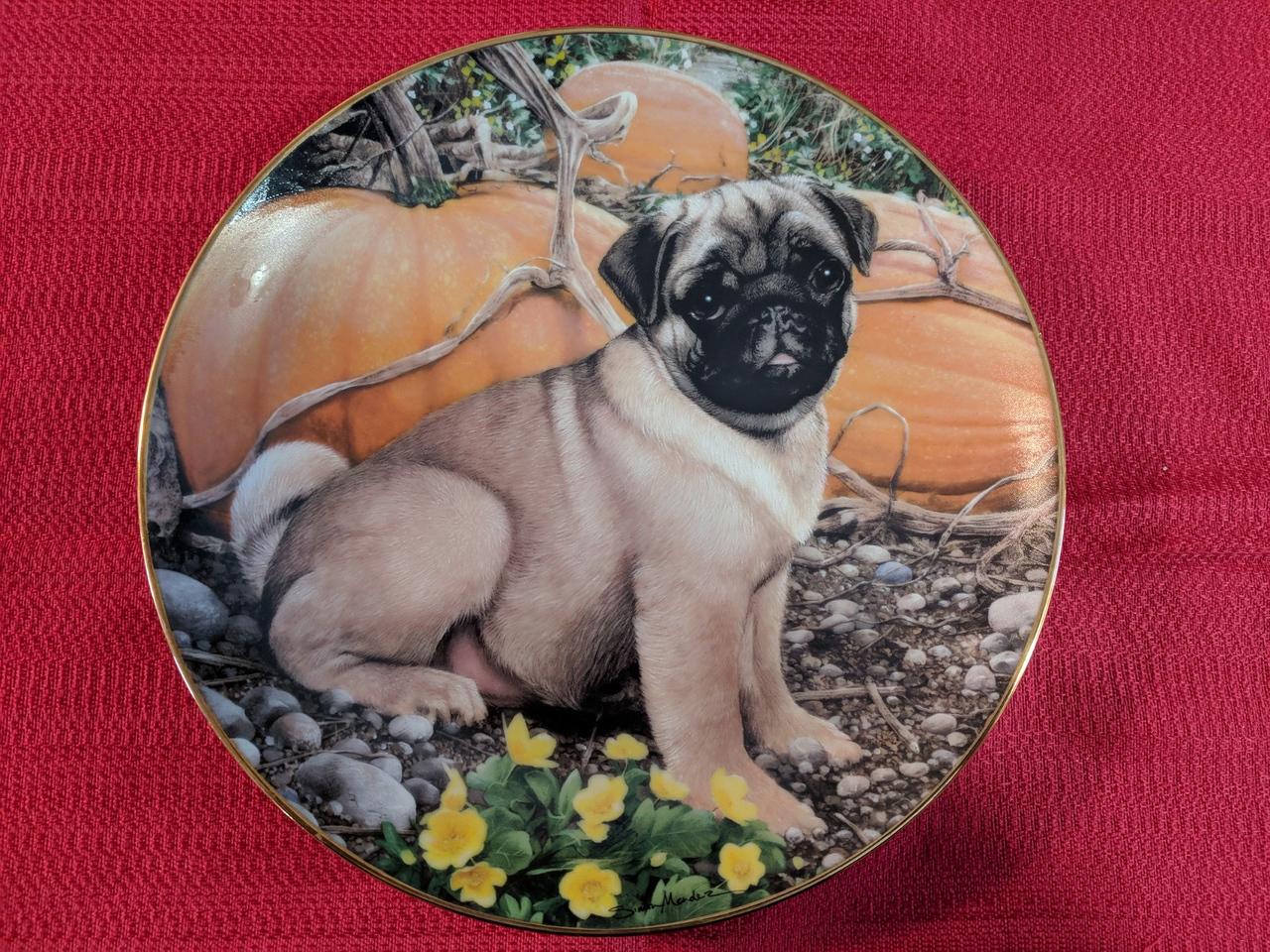 Danbury Mint Pumpkin Patch Pug