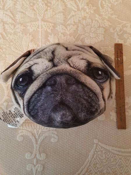 Pug Head Pillow