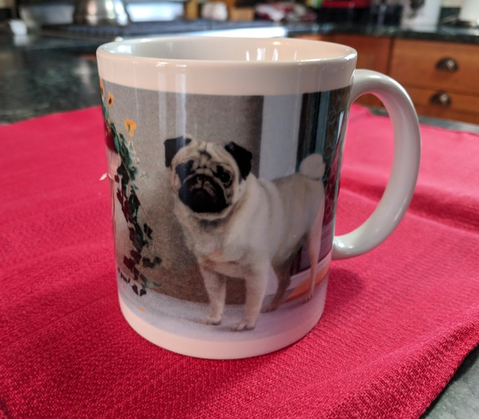 Love Me Love My Dog Pug Mug